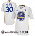 Maillot Authentique Manche Courte Golden State Warriors Curry 30 Blanc
