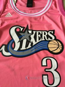 Maillot 76ers Femme Iverson 3 Rose