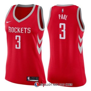 Maillot Femme Houston Rockets Chris Paul Icon 2017-18 3 Rouge