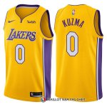 Maillot Authentique Los Angeles Lakers Kuzma 2017-18 0 Jaune