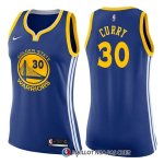 Maillot Femme Golden State Warriors Stephen Curry Icon 2017-18 30 Bleu