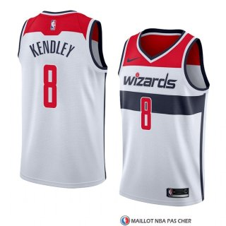 Maillot Washington Wizards Tiwian Kendley Association 2018 Blanc