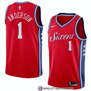 Maillot Philadelphia 76ers Justin Anderson Statement 2018 Rouge