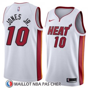 Maillot Miami Heat Derrick Jones Jr. No 10 Association 2018 Blanc