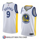 Maillot Golden State Warriors Andre Iguodala No 9 Association 2018 Blanc