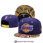 Casquette Los Angeles Lakers 9FIFTY Snapback Volet Jaune