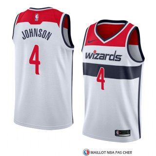 Maillot Washington Wizards Wesley Johnson Association 2018 Blanc