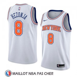 Maillot New York Knicks Mario Hezonja No 8 Statement 2018 Blanc