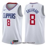 Maillot Los Angeles Clippers Danilo Gallinari Association 8 2017-18 Blanc