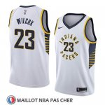Maillot Indiana Pacers C.j. Wilcox No 23 Association 2018 Blanc