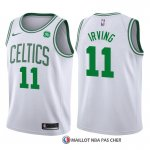 Maillot Authentique Enfant Boston Celtics Irving 2017-18 11 Blanc