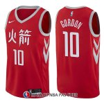 Maillot Houston Rockets Eric Gordon Ciudad 10 2017-18 Rouge