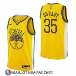 Maillot Golden State Warriors Kevin Durant Earned 2018-19 Jaune