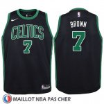 Maillot Enfant Boston Celtics Jaylen Brown No 7 Statement 2017-18 Noir