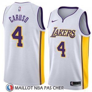 Maillot Los Angeles Lakers Alex Caruso No 4 Association 2018 Blanc