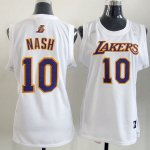 Maillot Femme de Nash Los Angeles Lakers #10 Blanc