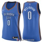 Maillot Femme Oklahoma City Thunder Russell Westbrook Icon 2017-18 0 Bleu