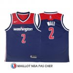 Maillot Authentique Washington Wizards Wall 2017-18 2 Bleu