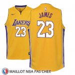 Maillot Enfant Los Angeles Lakers Lebron James No 23 Icon 2017-18 Jaune