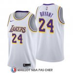 Maillot Lakers Kobe Bryant 24 Association 2018-19 Blanc