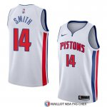 Maillot Detroit Pistons Ish Smith Association 2018 Blanc