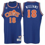Maillot Retro 2008 Cavaliers Williams 18 Bleu