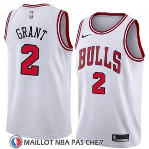 Maillot Chicago Bulls Jerian Grant No 2 Association 2018 Blanc