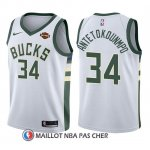 Maillot Enfant Milwaukee Bucks Giannis Antetokounmpo Association 2017-18 34 Blanc