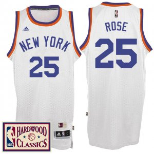 Maillot Retro 2016-17 Knicks Rose 25 Blanc