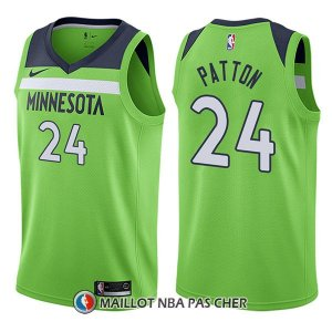 Maillot Minnesota Timberwolves Justin Patton Statement 24 2017-18 Vert