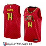Maillot Atlanta Hawks Dewayne Dedmon No 14 Statement 2018 Rouge