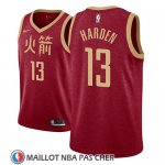 Maillot Houston Rockets James Harden No 13 Ciudad 2018-19 Rouge