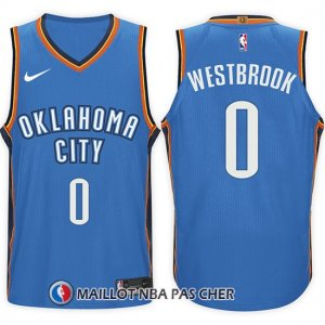 Maillot Oklahoma City Thunder Russell Westbrook 0 2017-18 Bleu