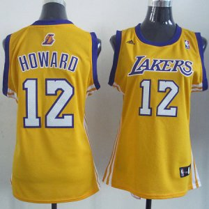 Maillot Femme de Howard Los Angeles Lakers #12 Jaune
