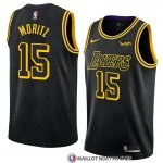Maillot Los Angeles Lakers Moritz Wagner 15 Ciudad 2017-18 Noir