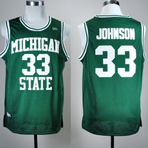 Maillot Johnson Michigan State Spartans #33 Vert