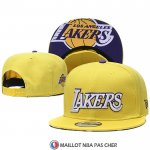 Casquette Los Angeles Lakers 9FIFTY Snapback Jaune Volet Blanc