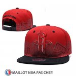 Casquette Houston Rockets Snapback Rouge Noir
