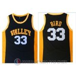 Maillot NBA NCAA Ecole Secondaire Bird 33# Noir