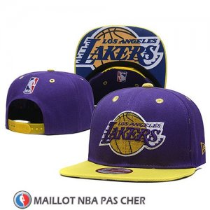 Casquette Los Angeles Lakers Snapback Volet Jaune