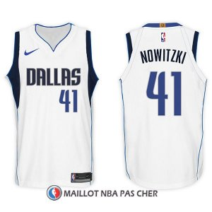 Maillot Dallas Mavericks Dirk Nowitzki 41 2017-18 Blanc