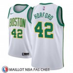 Maillot Boston Celtics Al Horford No 42 Ciudad 2018-19 Blanc