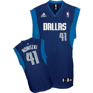 Maillot Dallas Mavericks Nowitzki #41 Bleu Marino
