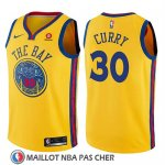Maillot Enfant Golden State Warriors Stephen Curry No 30 Ciudad Jaune