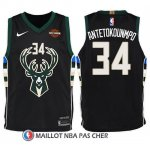 Maillot Enfant Milwaukee Bucks Giannis Antetokounmpo Statement Harlry 2017-18 34 Noir