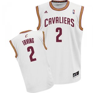 Maillot Blanc Irving Cleveland Cavaliers #2 Revolution 30