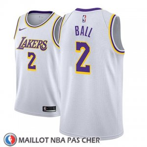Maillot Los Angeles Lakers Lonzo Ball No 2 Association 2018-19 Blanc