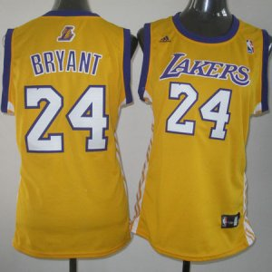 Maillot Femme de Bryant Los Angeles Lakers #24 Jaune