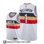 Maillot New Orleans Pelicans Zion Williamson Earned 2019-20 Blanc