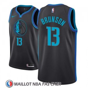 Maillot Dallas Mavericks Jalen Brunson Ciudad 2018-19 Bleu